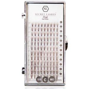 Cils Rush – touffes pour les maquilleurs  – 10D, 20D-10D Two tone
