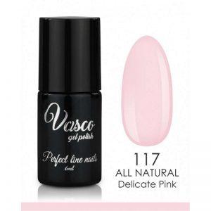 Vernis hybride. VASCO ALL NATURAL 6 ml – 117 Delicate Pink