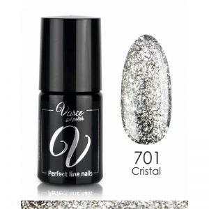 Vernis hybride. VASCO Platinum Chic 6 ml – 701 Cristal